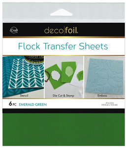 Emerald Green - Flock Transfer Sheets