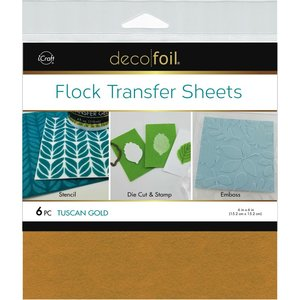 Tuscan Gold - Flock Transfer Sheets