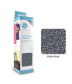 Argent - Glitter Transfert Textile SILHOUETTE