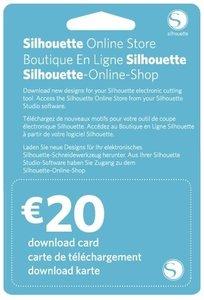 20€ Carte de téléchargement SILHOUETTE