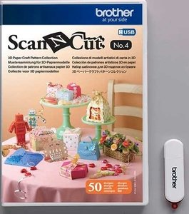 Brother ScanNCut USB N°4 Collection de patrons artisanaux en papier 3D