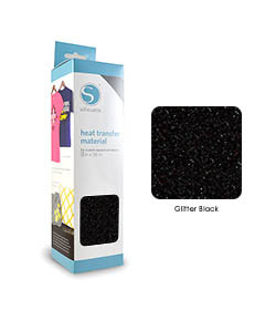 Noir - Glitter Transfert Textile SILHOUETTE