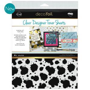 Splatter * Clear Toner Sheets - iCraft Deco Foil