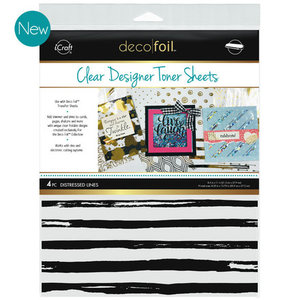 Distressed Lines * Clear Toner Sheets - iCraft Deco Foil