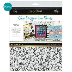 Floral Sketch * Clear Toner Sheets - iCraft Deco Foil