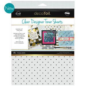 Polka Dots * Clear Toner Sheets - iCraft Deco Foil