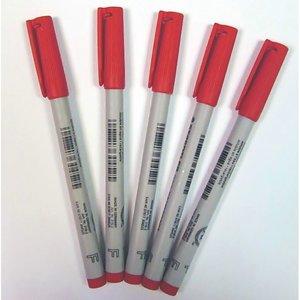 Stylos feutres (5x) Rouge