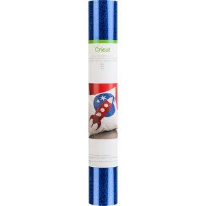 Transfert thermocollant d'un eclat holographique - Bleu