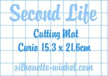 Second Life - Tapis de découpe feuilles adhés. Curio 15,3cm (3x)