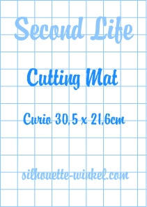 Second Life - Tapis de découpe feuilles adhés. Curio 30,5cm (2x)