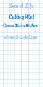 Second Life - Tapis de découpe feuilles adhés. Cameo 60,8cm (2x)