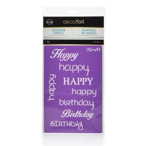 Happy Stencil - iCraft Deco Foil