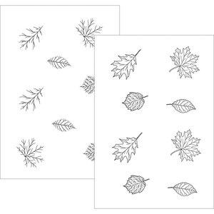 Thankful Leaves - StampnFoil Foil-Mates Gina K Designs