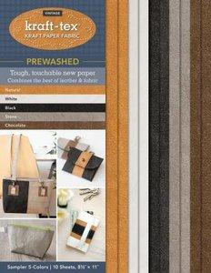 Kraft-Tex Tissu aspect Papier 5 Couleurs