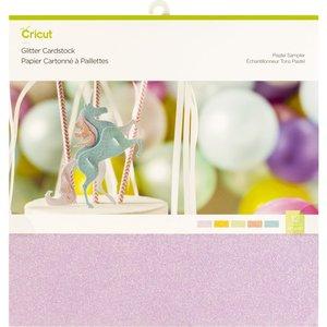 Papier cartonné à paillettes, Tons Pastel
