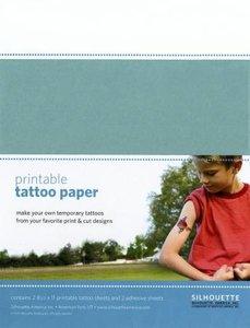 Imprimable Papier pour Tatouage Clear SILHOUETTE