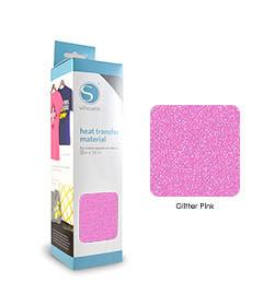 Rose - Glitter Transfert Textile SILHOUETTE