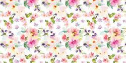 Watercolor Floral - Vinyle Déco - DCWV