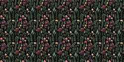 Dark Mini Floral  - Vinyle Déco - DCWV
