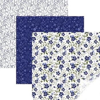 Vinyle - Echantillonneur en Fleur Bleu CRICUT