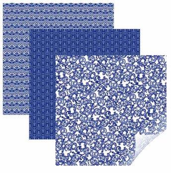 Vinyle - Echantillonneur Filigrane Bleu CRICUT