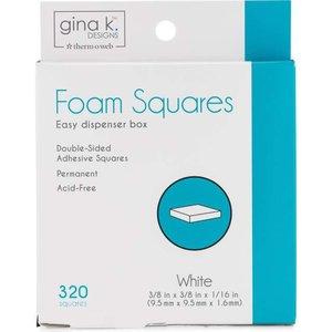 Foam Squares White - Gina K Designs